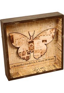 Quadro Decorativo De Parede Butterfly Ii Com Moldura