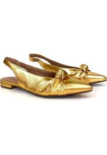 Sapatilha Modda Metalizado Feminina - Feminino-Dourado