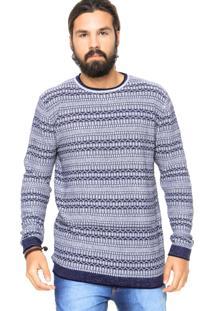 Suéter Jack & Jones Listras Azul