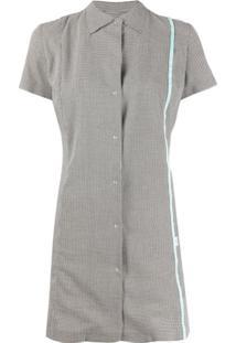 Coperni Houndstooth-Print Shirt Dress - Preto