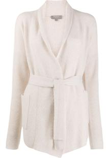 N.Peal Cashmere Belted Cardigan - Neutro