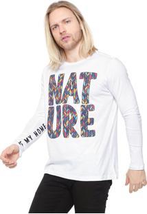 Camiseta Fiveblu Manga Longa Nature Branca