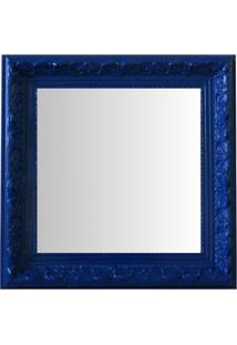 Espelho Moldura Rococó Raso 16236 Azul Art Shop