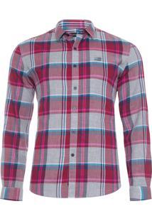 Camisa Masculina Shore Check Classic - Vermelho