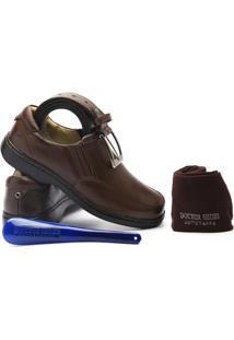 8f52714e35799 ... Kit Masculino Sapato+Cinto+Meia+Calçadeira Doctor Shoes - Masculino-Café