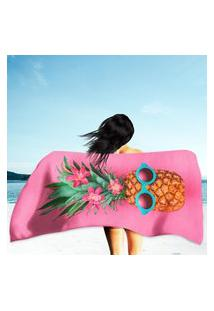 Toalha De Praia / Banho Pineapple Fruit Hipster Único