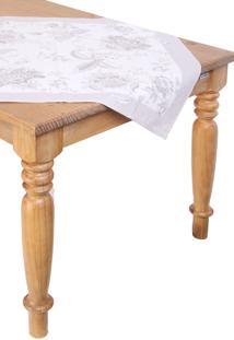 Toalha De Mesa Para Chá Karsten Quadrada Cada Dia Kiara Branco 78 X 78