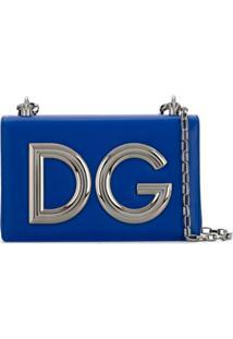 Dolce & Gabbana Clutch 'Dg Girls' De Couro - Azul