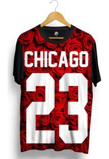 Camiseta Bsc Chicago 23 Red Rose Full Print - Masculino