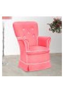 Poltrona Amamentação Sofia Fixa Rosa E Branca