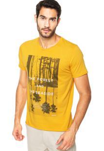 Camiseta Sommer Mini Forest Amarela