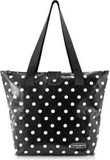 Bolsa Shopper Jacki Design Flanelado - Feminino-Preto