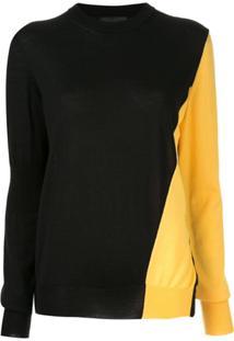 Calvin Klein 205W39Nyc Suéter Bicolor - Preto