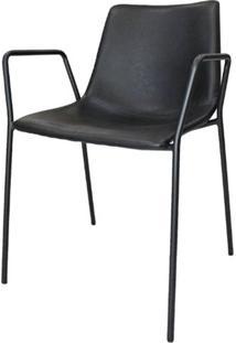 Cadeira Flora C/ Bracos Preta 79 Cm (Alt) - 47409 - Sun House