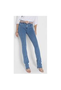 Calça Jeans Lança Perfume Bootcut Pespontos Azul