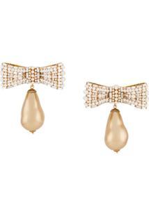 Dolce & Gabbana Par De Brincos Com Laço - Dourado
