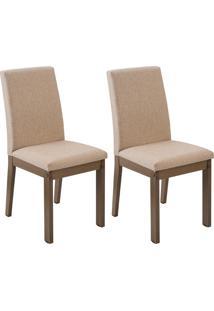 Kit 2 Cadeiras Rustic Com Trama Fendi Madesa