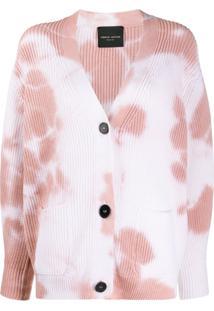 Roberto Collina Cardigan Oversized Tie-Dye - Branco