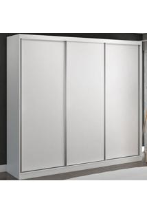 Guarda-Roupa Casal 3 Portas De Correr 100% Mdf 8804 Branco - Foscarini