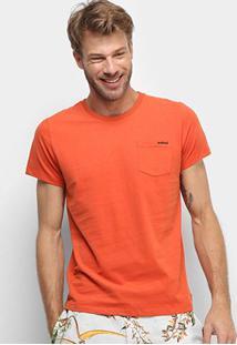 Camiseta Colcci Estampada Manga Curta Masculina - Masculino-Laranja