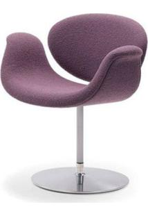 Cadeira Tulipa Tecido Sintético Branco Soft D006