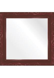 Espelho Brilho Rococo Vermelho 26X26Cm