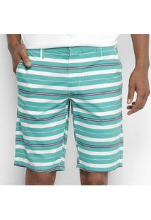 Bermuda Colcci Listrada Masculina - Masculino-Verde+Preto