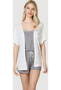 Pijama Curto 3 Peças Feminino