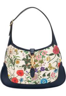 b3ef995fd ... Gucci Bolsa Tiracolo Jackie Com Estampa Flora - Azul