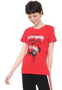 Camiseta Coca-Cola Jeans Atlanta Vermelha