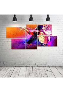 Quadro Decorativo - Michael-Jackson-Art - Composto De 5 Quadros - Multicolorido - Dafiti
