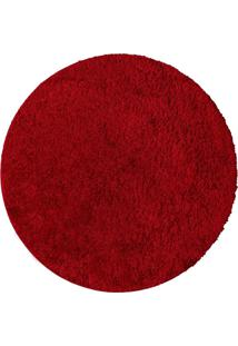 Tapete Realce Diam. 150 Vermelho Jolitex - Tricae