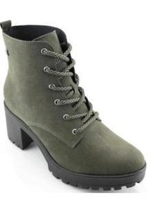 Bota Coturno Ramarim Ankle Boot Feminina - Feminino-Musgo