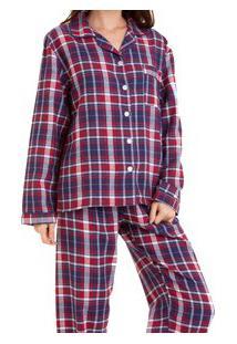 Pijama Flanela Feminino Xadrez (921) 100% Algodão