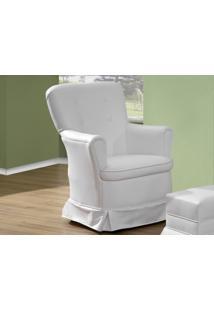 Poltrona De Amamentação Fixa Aconchego Branco - Canaã Móveis