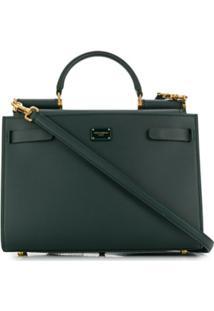 Dolce & Gabbana Bolsa Tote Sicily 62 Pequena - Verde