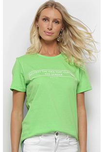 Camiseta Colcci Clothes Has Not Gender Feminina - Feminino-Verde Claro