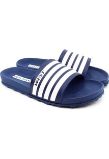 Chinelo Slide West Coast Zuma - Masculino-Marinho