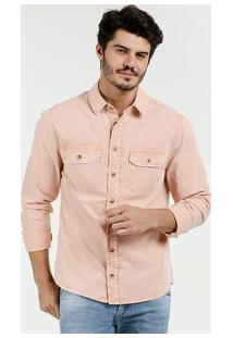 Camisa Masculina Sarja Manga Longa Marisa
