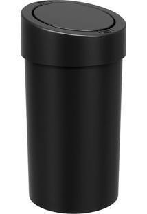 Lixeira Automática- Preta- 39,5Xø20Cm- 9L- Bbrinox