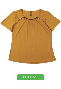 Blusa Com Decote Diferenciado Amarelo