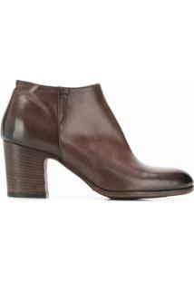 Pantanetti Ankle Boot Com Salto Estruturado - Marrom