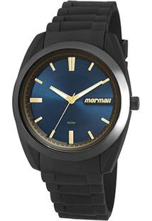 Relógio Analógico Mormaii Mo2039Ac-8A Feminino - Feminino-Preto+Azul