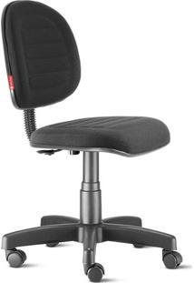 Cadeira Escritório Executiva Costura Preto