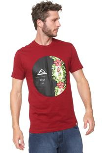 Camiseta Reef Aloha Bordô