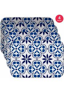 Jogo Americano Love Decor Wevans Premium Ladrilho Kit Com 4 Pçs
