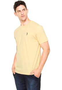 Camiseta Aleatory Bordado Amarelo