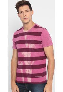 Camiseta Listrada- Rosa & Roxa- Calvin Kleincalvin Klein