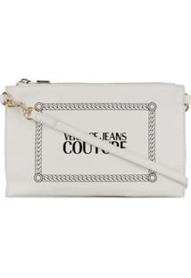 Versace Jeans Couture Cutch Com Estampa De Logo - Branco