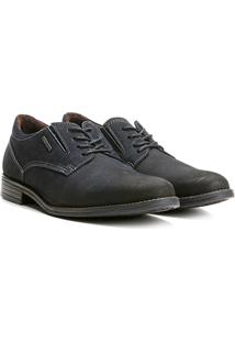 Sapato Social Couro Pegada Nobuck Masculino - Masculino-Marinho